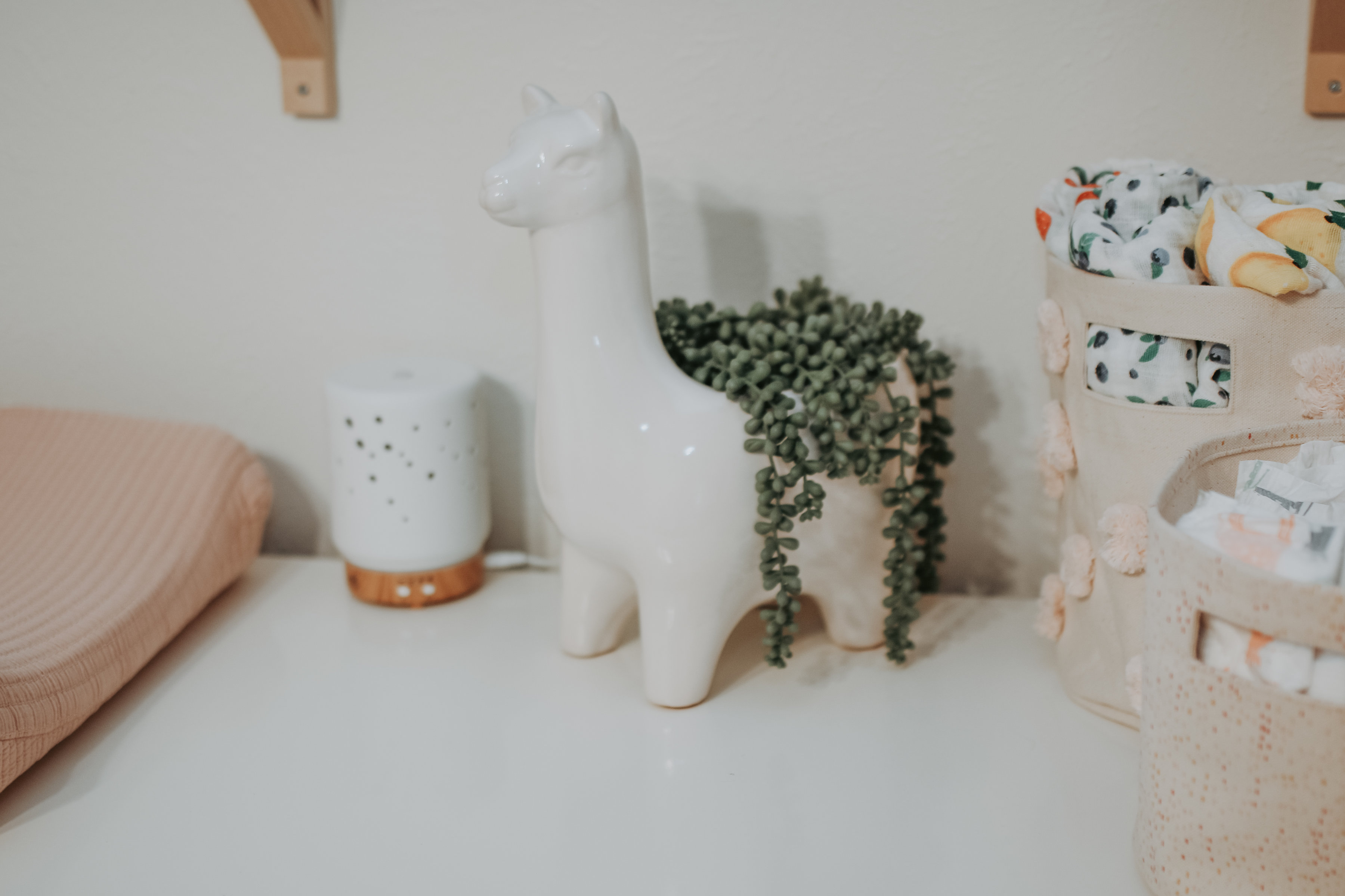 Pink And White Llama Inspired Nursery Project Nursery