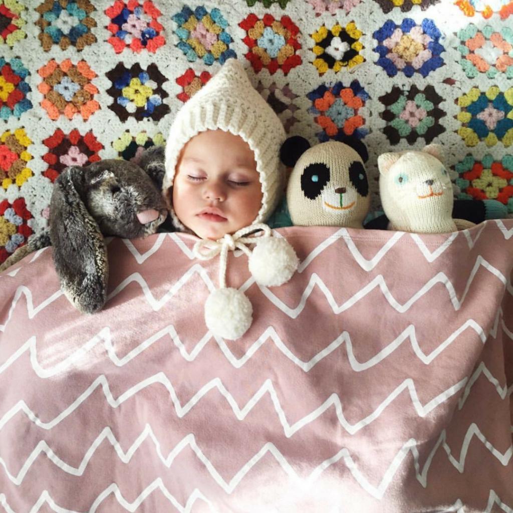 Organic Fleece Zig Zag Blanket