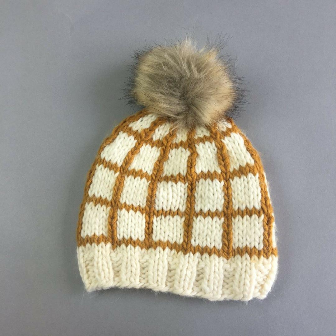 Isla Windowpane Knit Hat