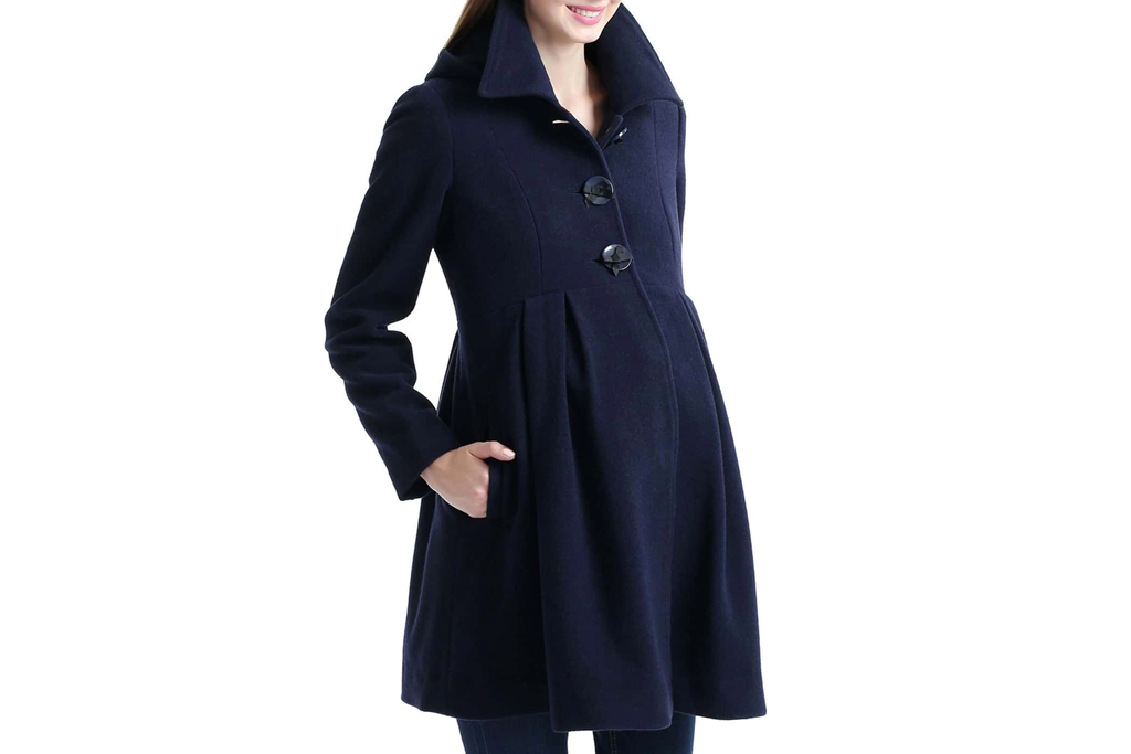 Faye Hooded Maternity Peacoat