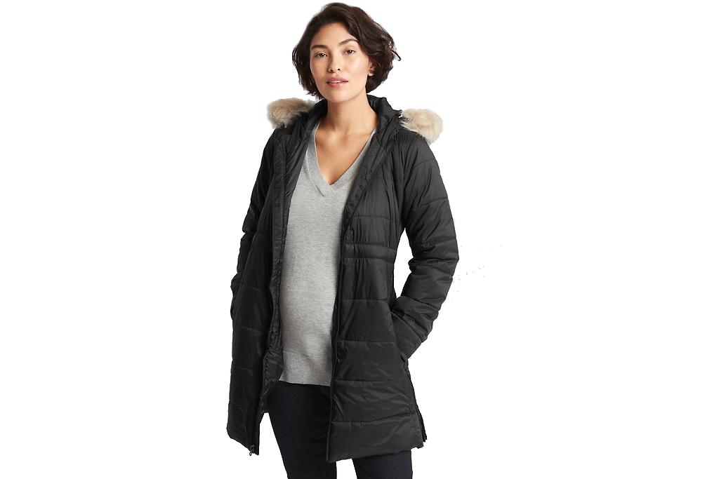 Maternity Longline Hooded Puffer Jacket