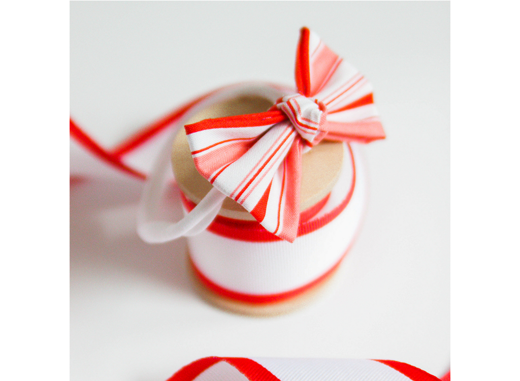 Candy Cane Bow Headband