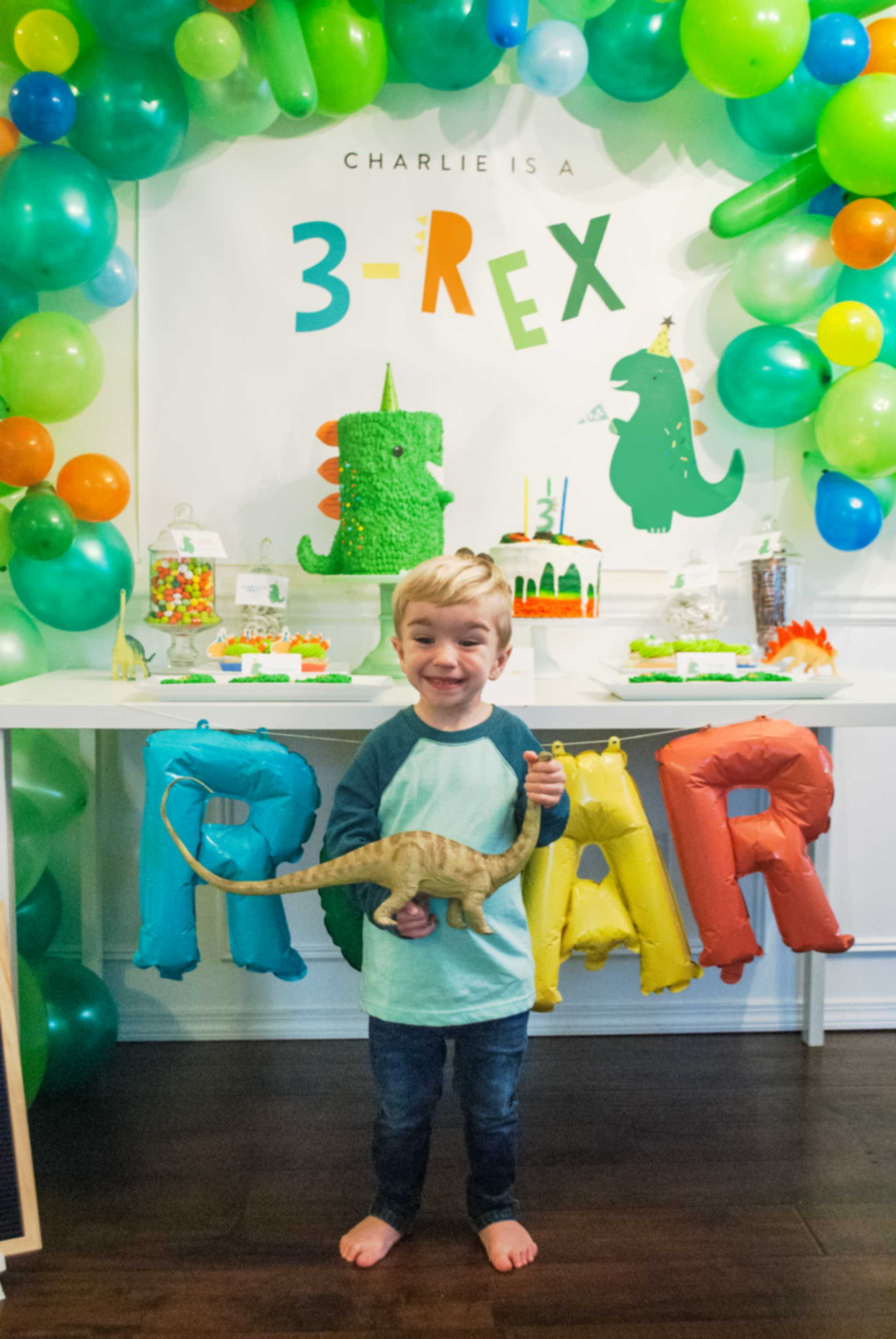 3 Rex Birthday Party