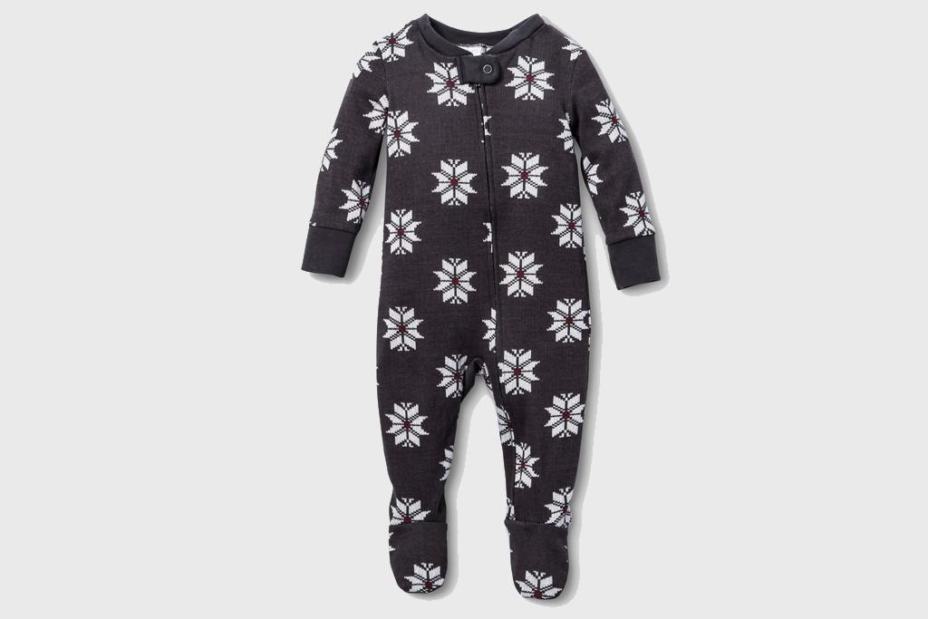 Charcoal Snowflake Pajamas