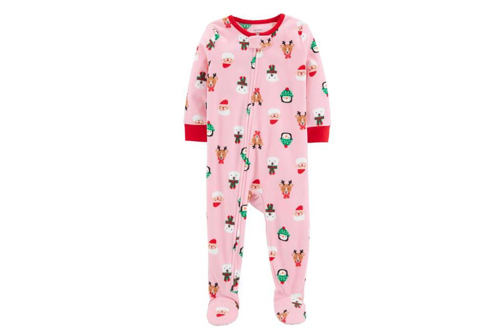 Pink Christmas Print Pajamas