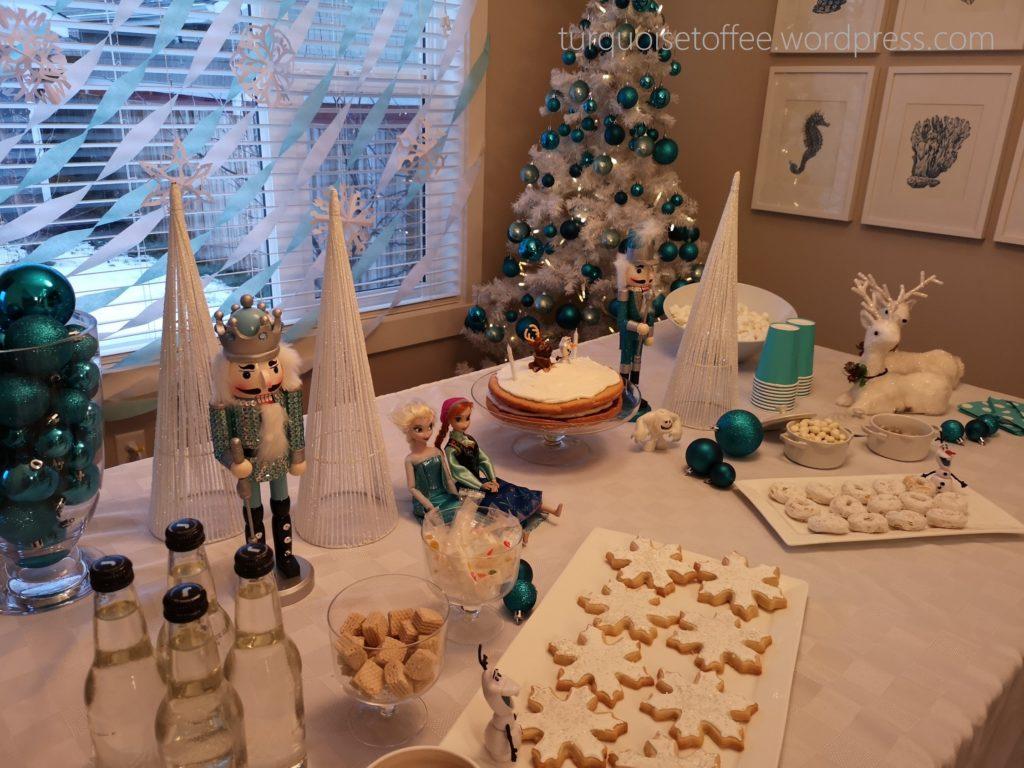 Frozen Winter Wonderland Third Birthday Party Project Nursery