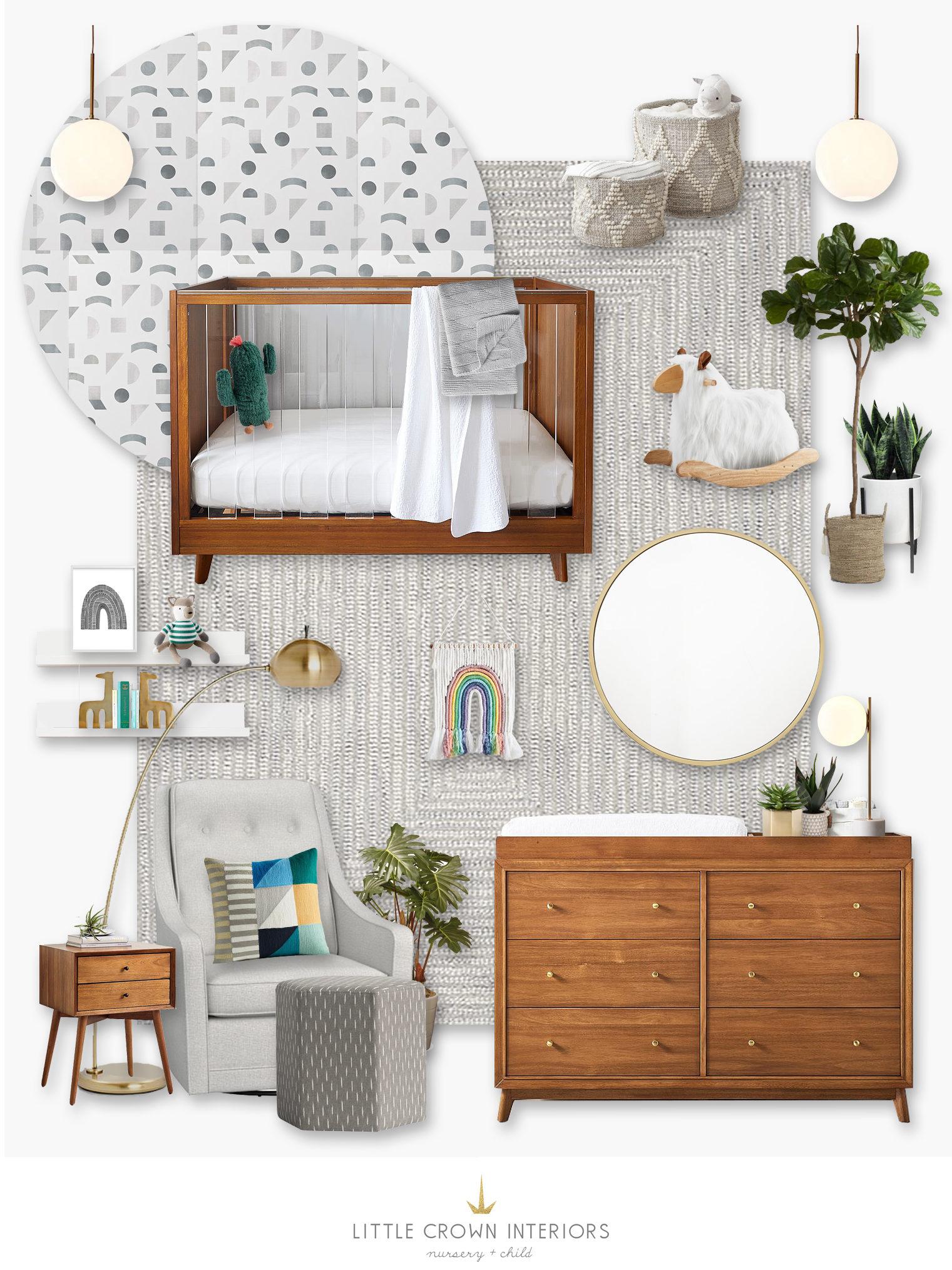 Jenna Kutcher's Nursery Design Board by Little Crown Interiors