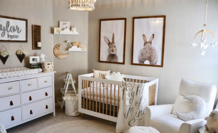 Classic Baby Girl Bunny Nursery