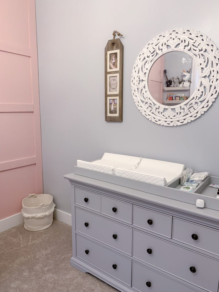 Ak S Pink And Gray Board And Batten Nursery Project Nursery