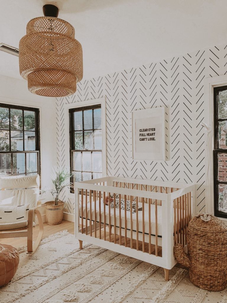 Minimal Boho Nursery with SINNERLIG Pendant