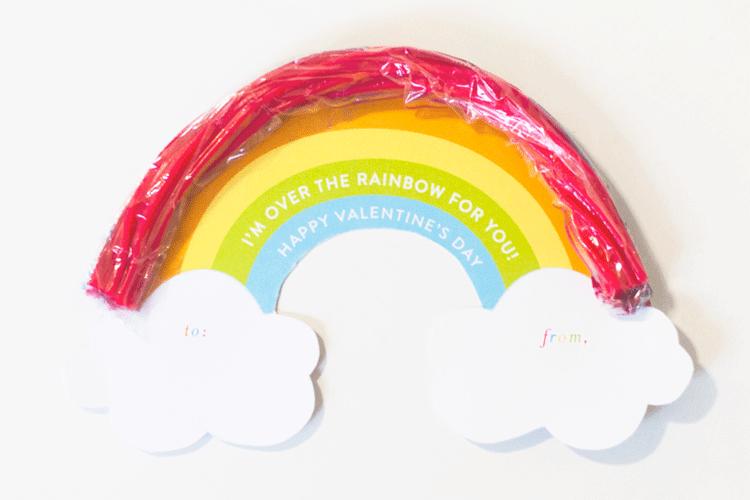 Twizzler Rainbow Free Printable Valentine