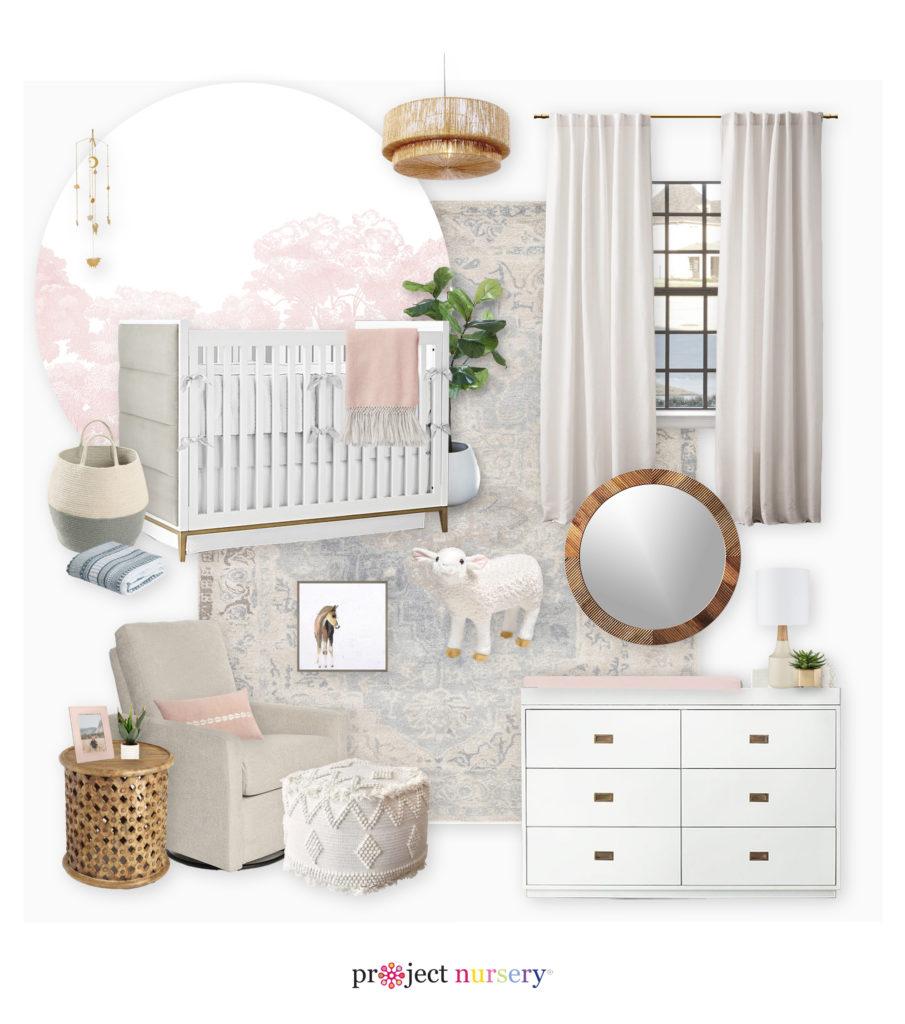 Girl Nursery E-Design Board