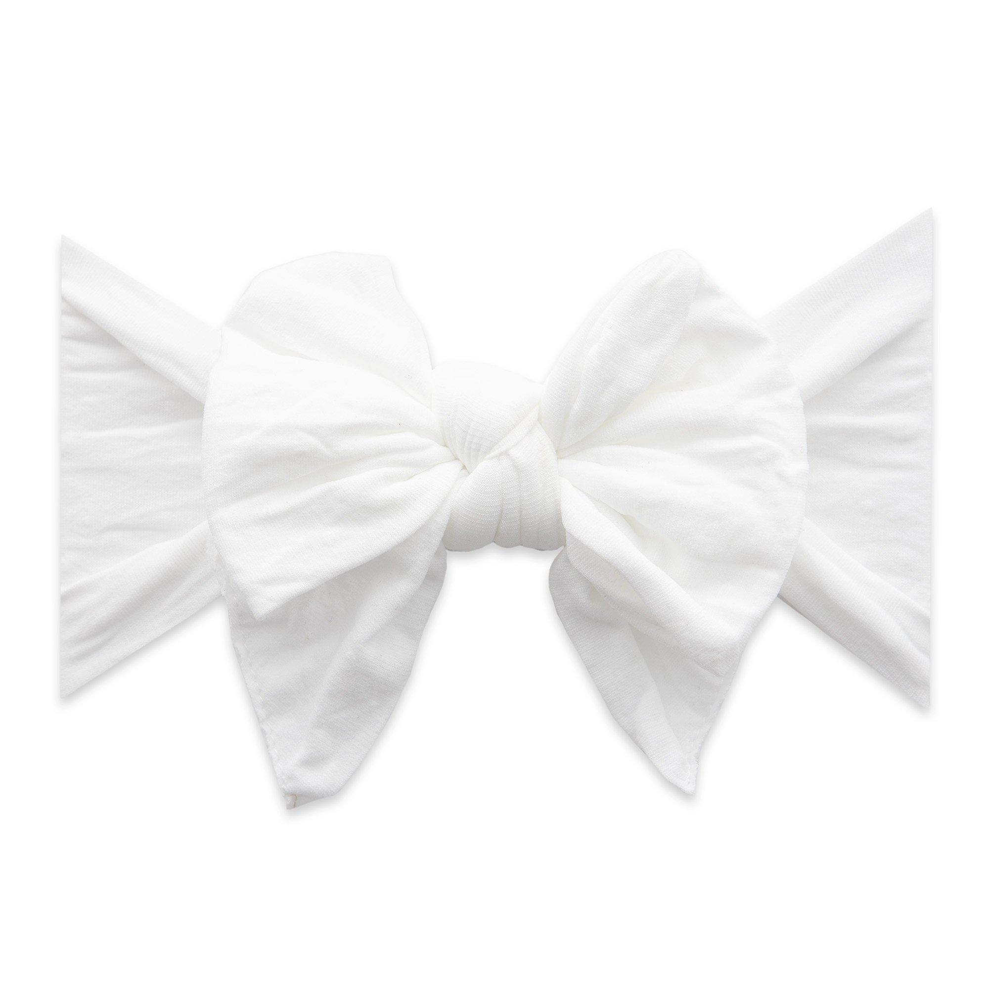 White Dot Enormous Knot Headband