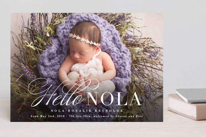 Hello Nola Birth Announcement