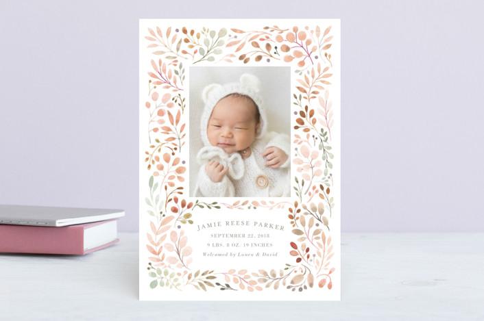 Sweet Vine Birth Announcement