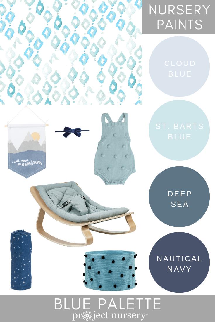 Project Nursery Paint Collection - Blue Palette