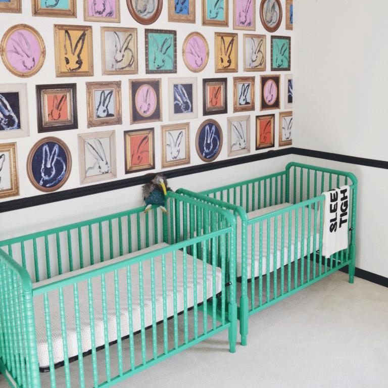 Not-So-Neutral Twin Nursery