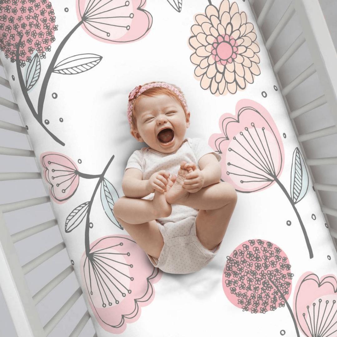 Floral Photo-Op Crib Sheet