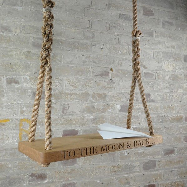 Personalized Wooden Swing