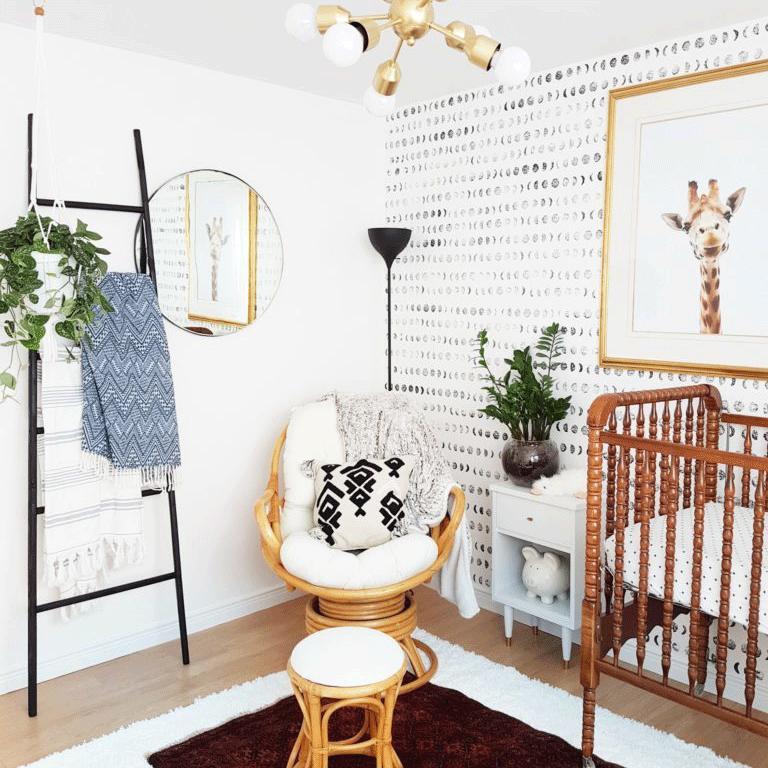 Bright and Modern Boho Nursery