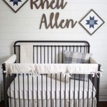 photo of A Rustic Baby Boy Nursery