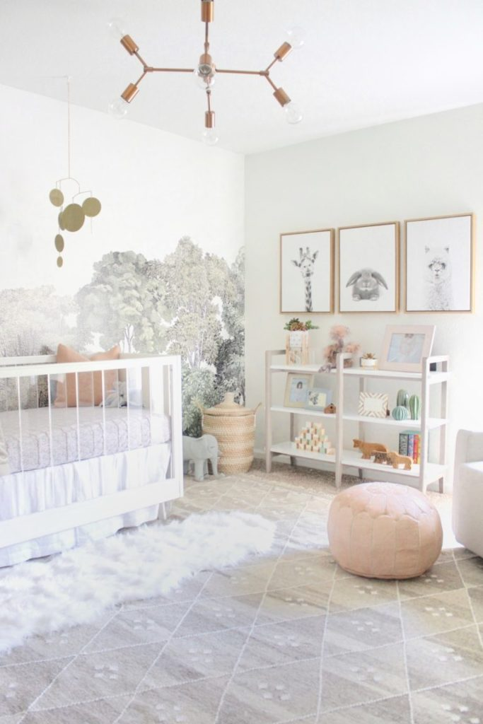 Serene Girl Nursery Inspired by Nature