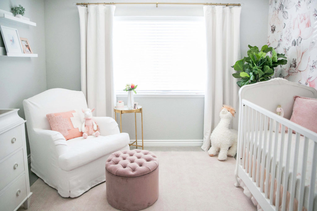 Sierra Dallas's Floral Nursery by Little Crown Interiors