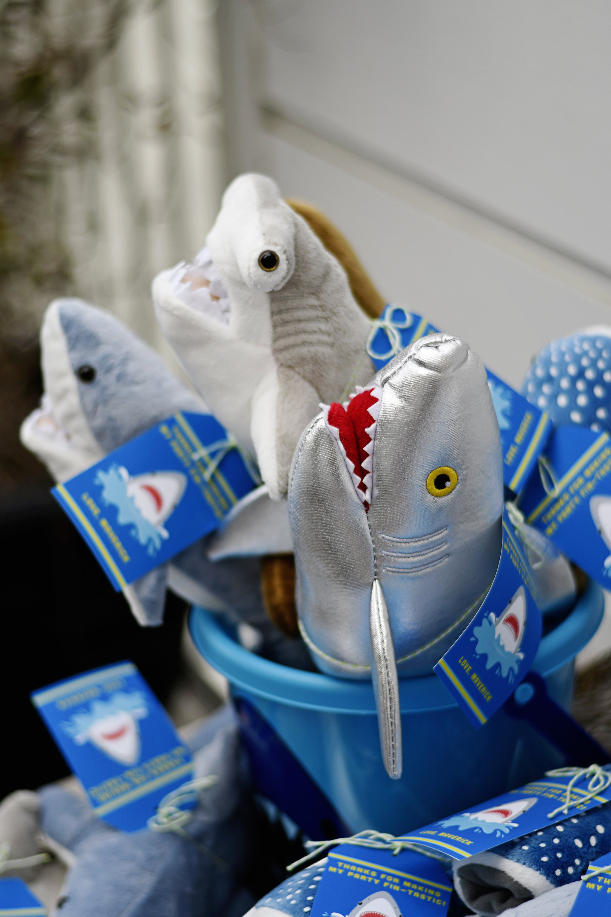 Plush Shark Party Favors!