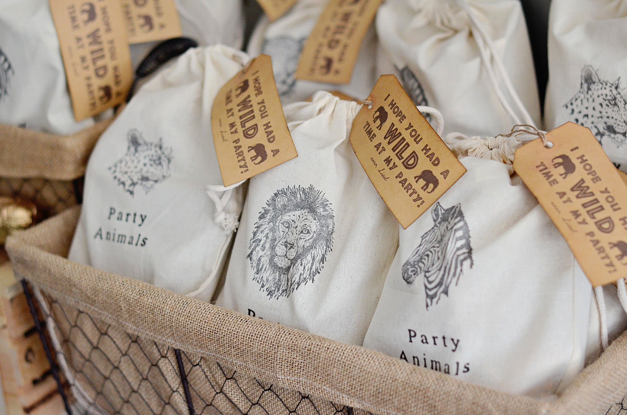 Safari Animal Party Favors!