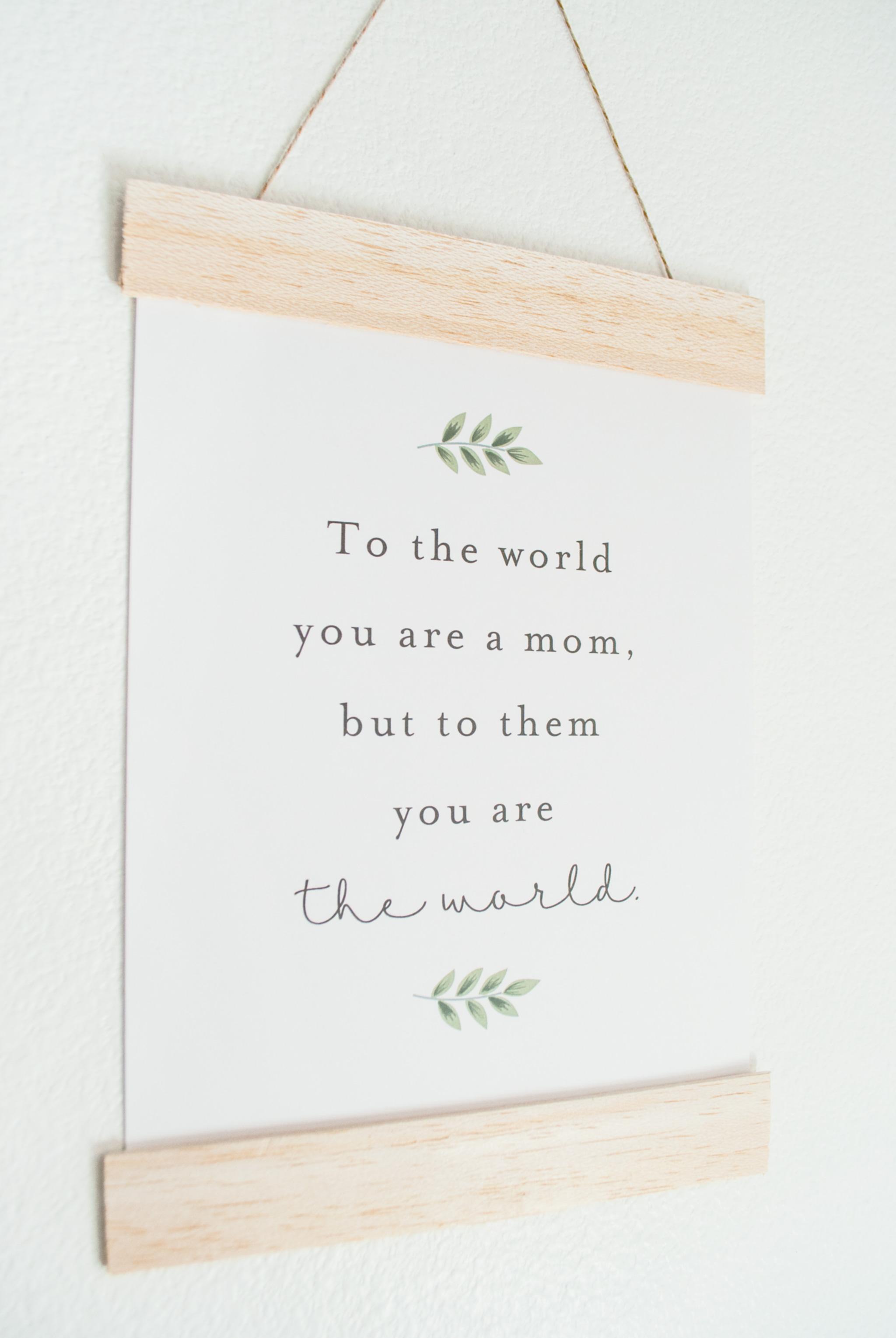 Free Printable Art Print for Mom
