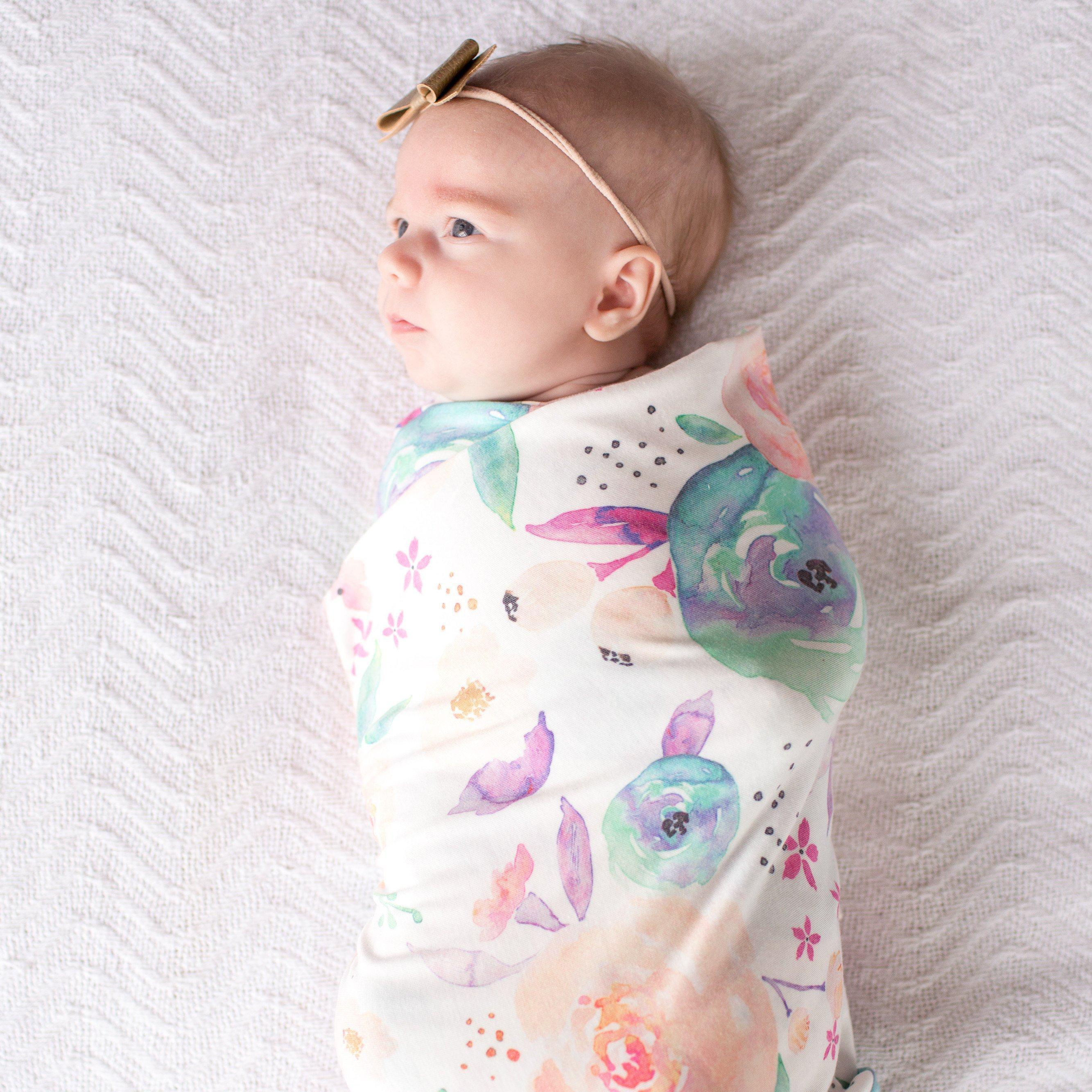 Bloom Knit Swaddle Blanket