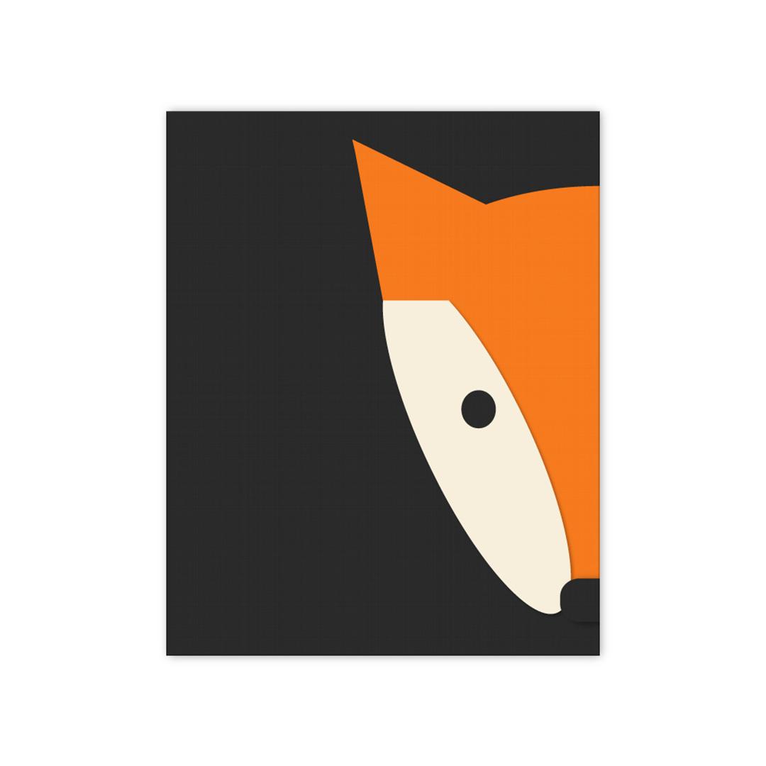 Peekaboo Fox Print