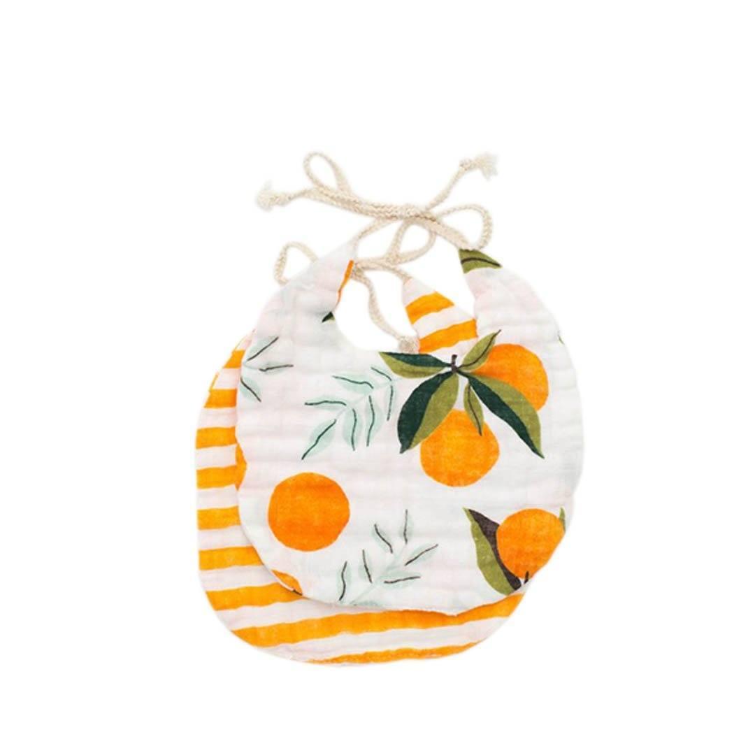Clementine + Citrus Bib Set