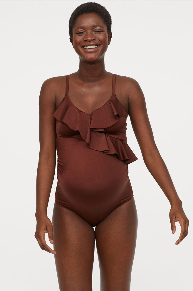 MAMA Swimsuit with Ruffles