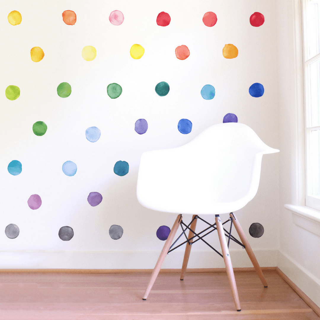 Rainbow Dot Wall Decals