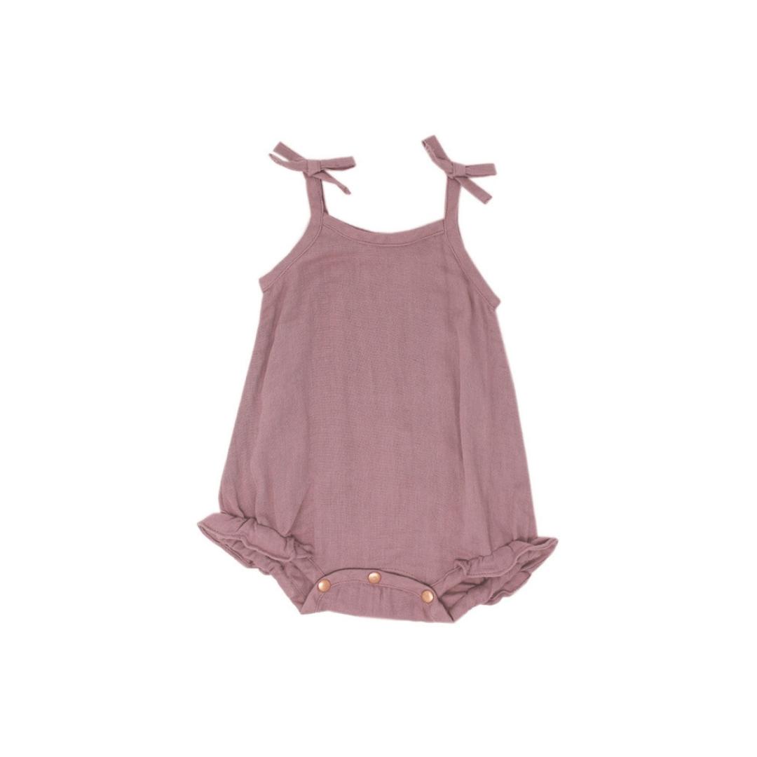 Lavender Ruffle Bodysuit