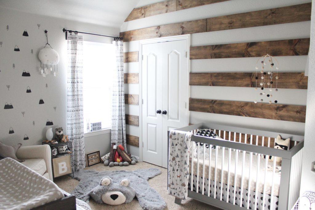 Rustic Meets Modern Monochrome Nursery