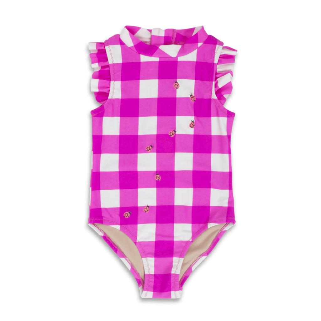 Ladybug Ruffle Baby Swimsuit