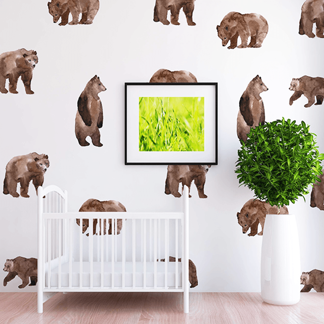 Oscar Bear Wall Decal Set