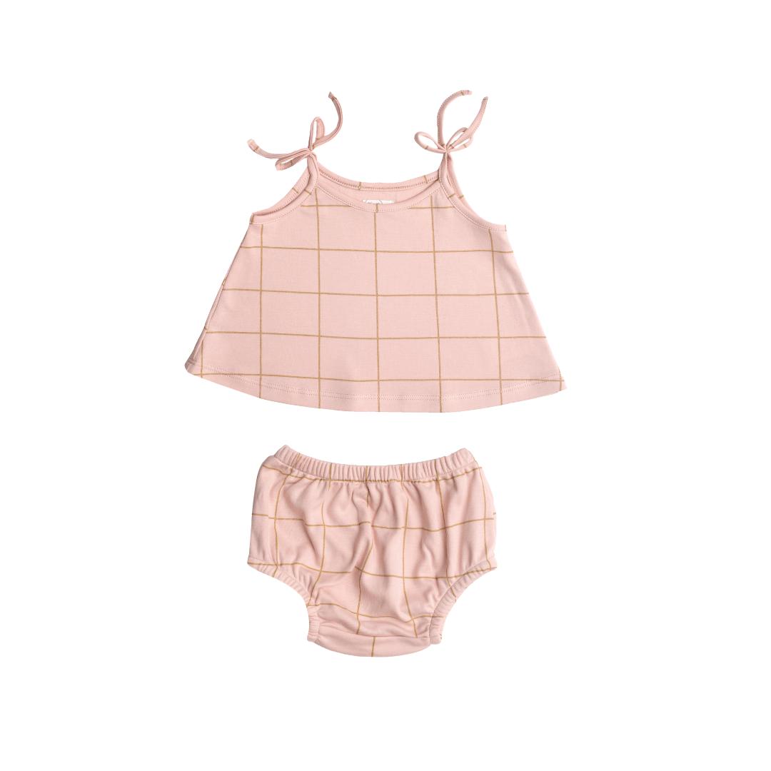 Pink Squares Tank Set