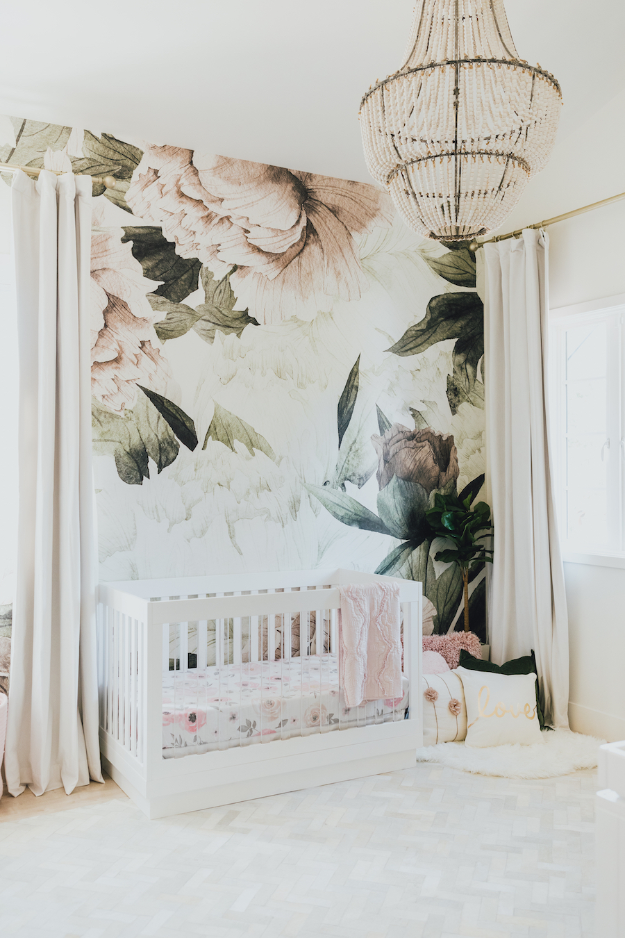 Sophisticated Floral Nursery