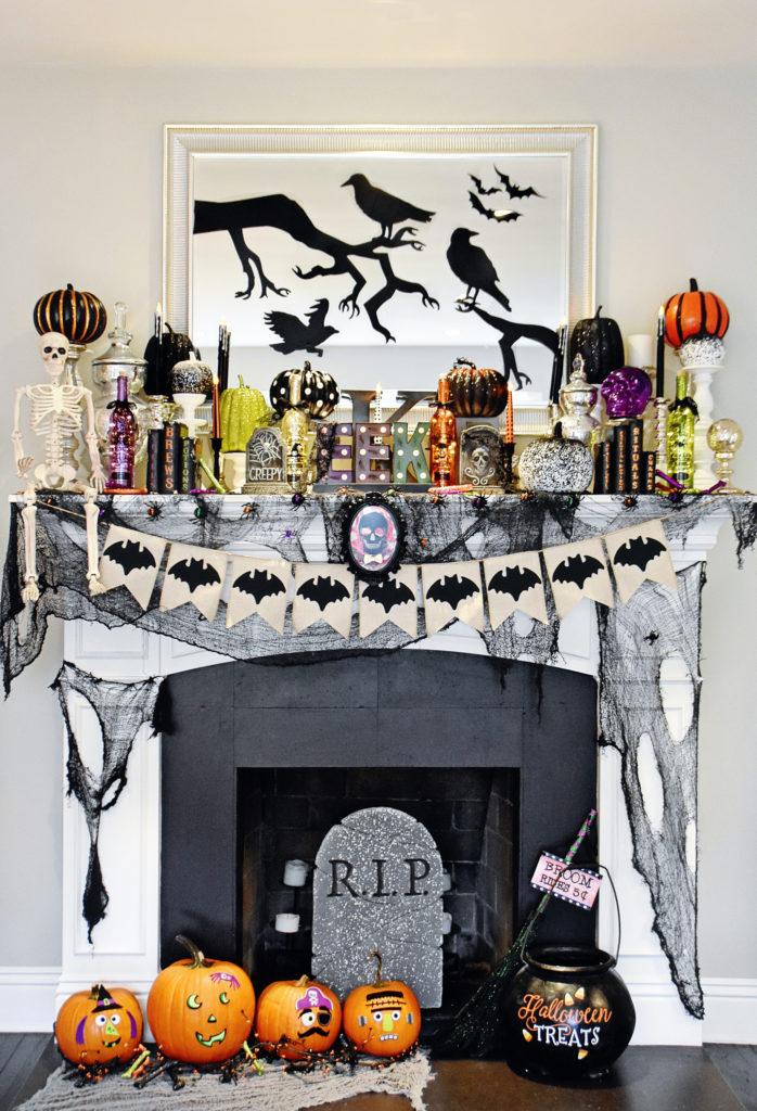 Spooktacular Halloween Mantel Inspiration