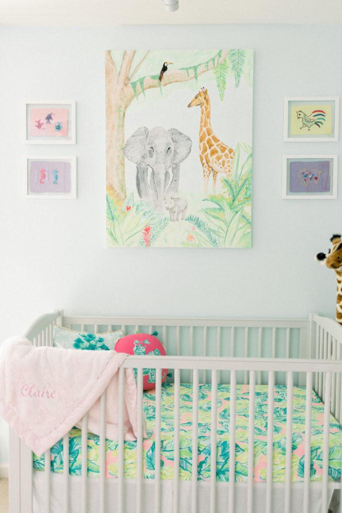 Nursery Crib Decor and Painting