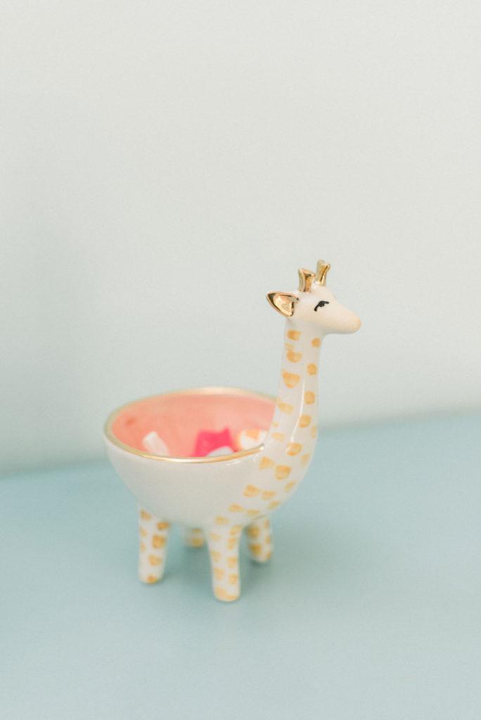 Ceramic Giraffe Dish