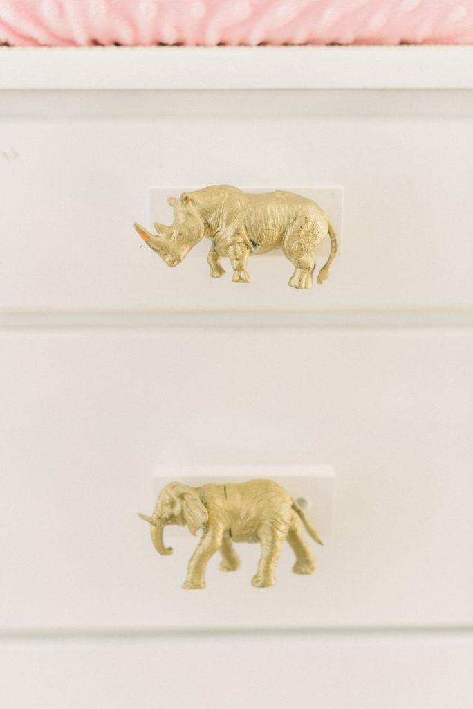 Custom Gold Animal Knobs
