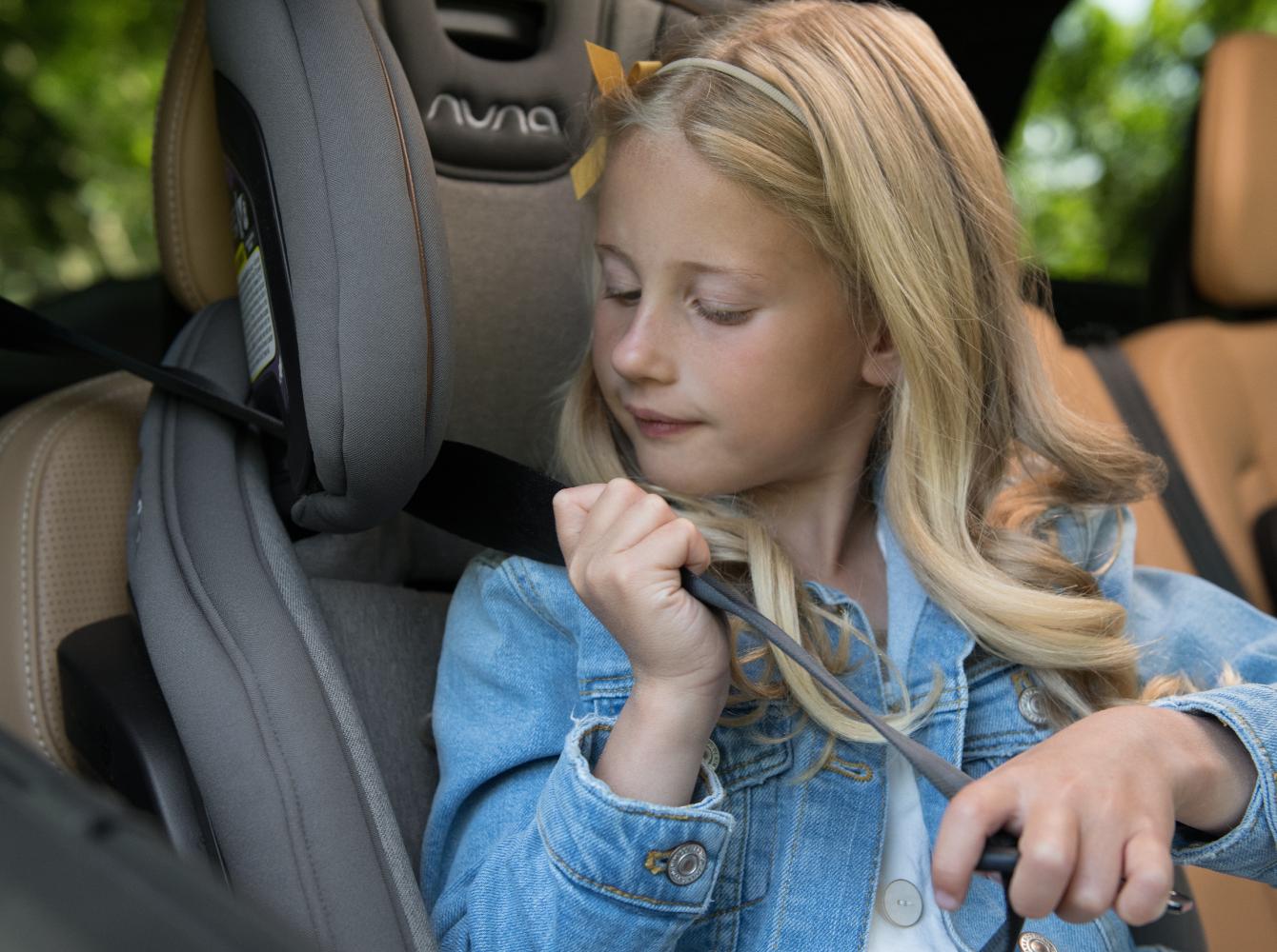 Nuna Exec Convertible Car Seat Converts to Seatbelt Positioning Booster
