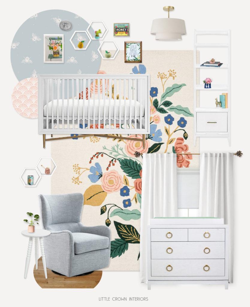 Bee Themed Nursery Design Board