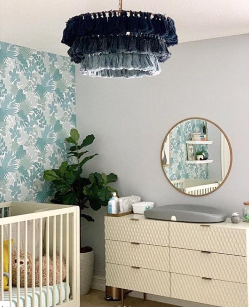 Fela Chandelier in Subtle Jungle Nursery