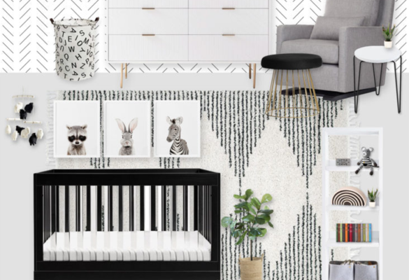 Black and White Nursery E-Design