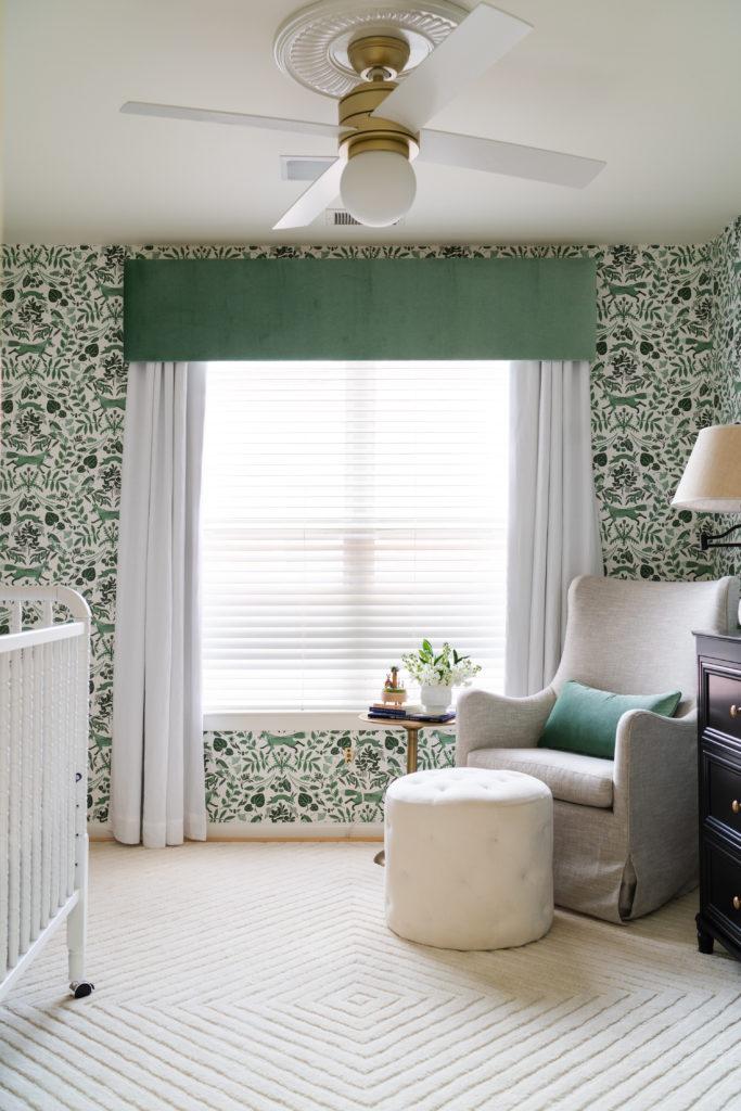 Green Woodland Wallpaper Nursery